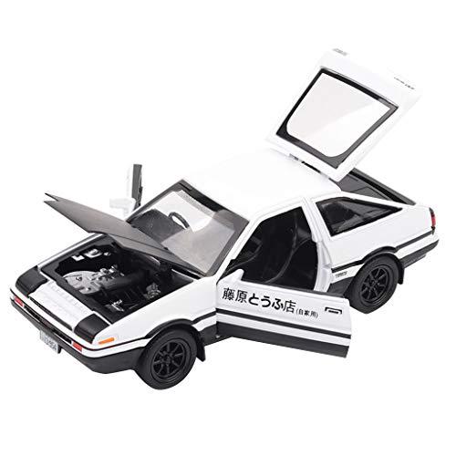 Jamicy® 1/32 Toyota Sprinter Trueno AE86, Legierung Auto Spielzeug Dekoration Spielzeug Auto-Modell für Kinder, Schwarz Weiß