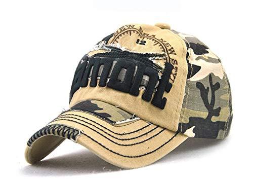 Camouflage Army Cap Herren Basecap Snapback Sport Outdoor Baseball Kappe (Beige)