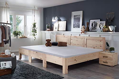 Spannbetttuch für Familienbetten | Original-RIMA-Familienbett | Größe: 270x200cm | Qualität: Vario Stretch | Farbe: Platin