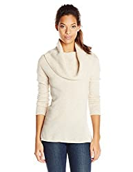 Sofie Women's 100% Cashmere Cowl Neck Sweater, Oatmeal, X-Large