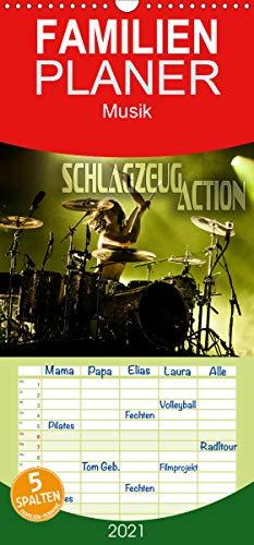Schlagzeug Action - Familienplaner hoch (Wandkalender 2021, 21 cm x 45 cm, hoch)