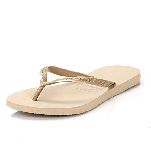 Havaianas Slim, Chanclas para Mujer, Oro (SandGrey/Light Golden), 35/36 EU