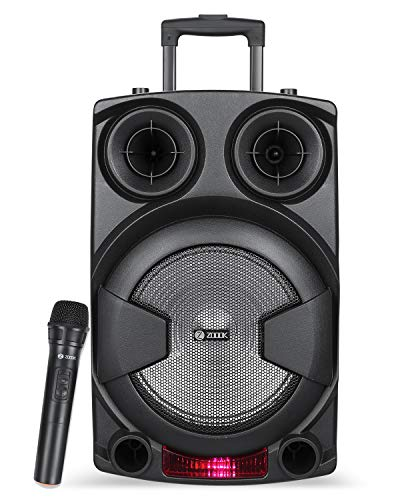 Zoook Rocker Thunder XXL 70 watts Trolley Karaoke Bluetooth Party Speaker with Remote, Built-in Active Amplifier and Wireless Mic