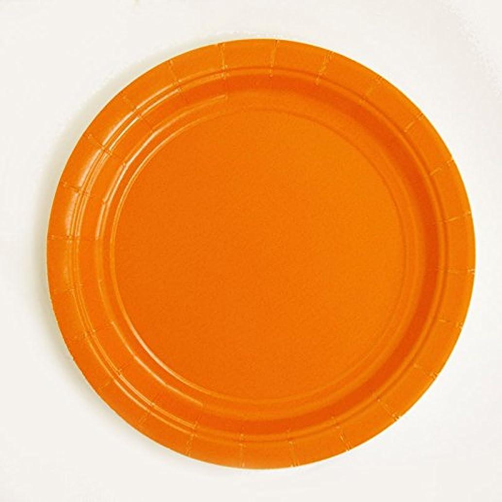 居間分散制限するHi-Delight カラー 紙皿 6枚入り 17.8cm アメリカ製 (オレンジ)