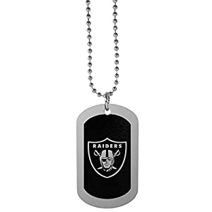 NFL Siskiyou Sports Fan Shop Las Vegas Raiders Chrome Tag Necklace 26 inch Black by Siskiyou Gifts Co, Inc.