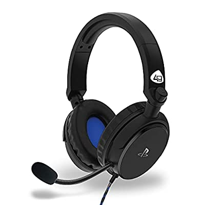 4Gamers PRO4-50s Officially Licensed Stereo Gaming Headset for PS4 - Black by 4gamers