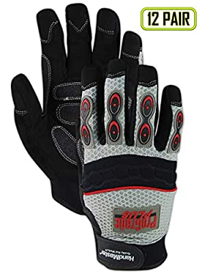 Magid MultiMaster Ambidextrous Nitrile Dotted Gloves