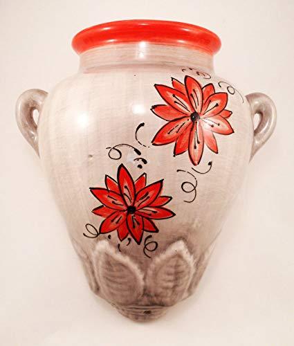 Générique Pot Mural Maxi 28 cm - Fleur Rouge