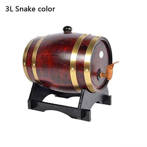 Neckip VWine Barrel - 1,5 l Vintage Holz Eiche Holz Weinfass Spender für Bier Whisky Rum Port - tolles Geschenk für Männer und Frauen (Weinrot) (1,5-3 l)