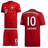 adidas FCB FC Bayern München Home Kit Heimset 2019 2020 Herren Coutinho 10 Gr M