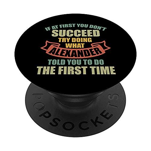 Alexander Alexander - Camisa con nombre personalizado PopSockets PopGrip Intercambiable