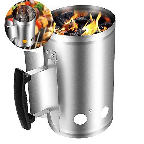 Vvciic Productos Parrilla para Barbacoa Briqueta de Arranque de Chimenea de carbón Grande y Kit de iluminación de Inicio rápido, Ahorra Tiempo Dinero y Combustible