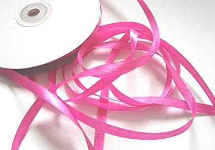 CaPiSo 50m Satinband 6mm Dekoband Weihnachten Schleifenband Geschenkband Dekorationsband (Pink, 50m)