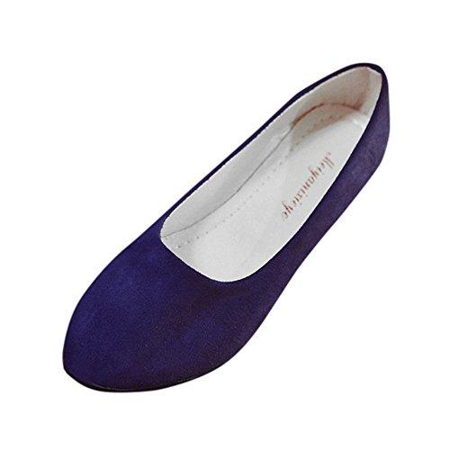 MRULIC Damen Tanzschuhe Flache Einzelne Schuhe Sandalen Casual Ballerina Schuhe Business Office Schuhe Bequem und Weich