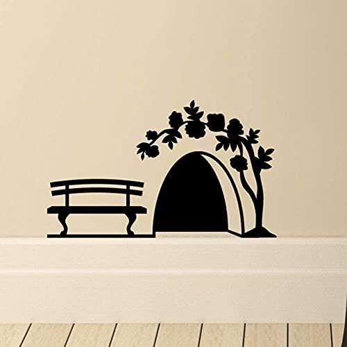 Pequeño agujero de ratón Etiqueta de la pared Divertido ratones Rat Hole Wall Decal DIY Art Mural Armario Sala de estar Dormitorio Decoración del hogar 10 * 17cm 2pcs