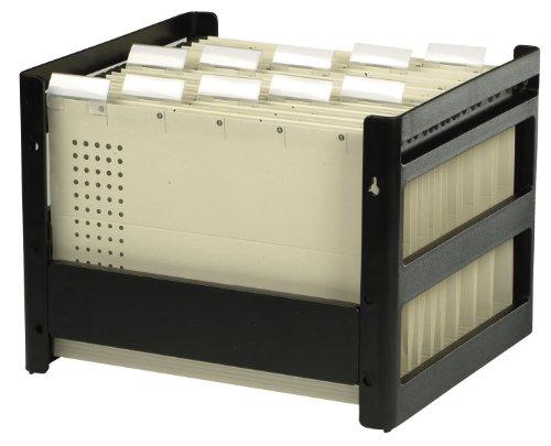 ELBA Hängeregister-Box go fix aus Kunststoff ohne Inhalt in schwarz, 1 Stück