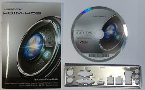 ASRock H81M-HDS Rev.1.05 - Handbuch - Blende - Treiber CD
