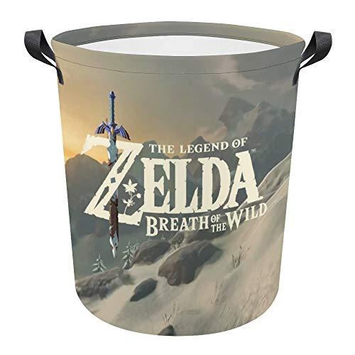 Zelda - Cesta de lavandería plegable impermeable de 43,9 cm para ropa sucia, cesta de lavandería, tela Oxford, organizador de almacenamiento para juguetes