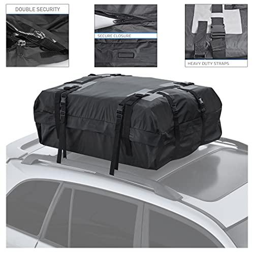 Motor Trend RC200 Rooftop Cargo Carrier Bag – Heavy-Duty Waterproof Design,...
