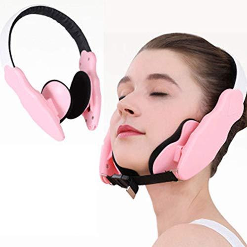 XHDMJ Facial Lifting Slimming Belt Thin Face Corrector V Line Facial Mask Face Shaper Lifting Naturel Contre Doppelkin, Corrector Facial Masseter Cheek Lift, Pink