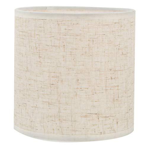 Lurrose Pantalla de tela para lámpara de mesa y piso con forma de cilindro de araña para lámpara de construcción, color blanco arroz, 5, 9 pulgadas