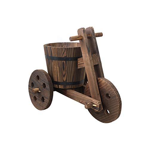 Hogar y Mas Macetero Original de Madera Natural para jardín Bicicleta Garden Friends