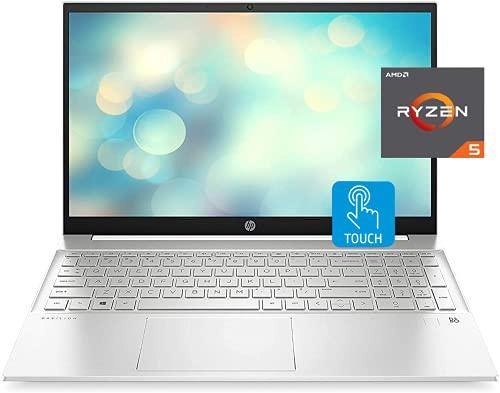 HP 2021 Pavilion Laptop, 15.6' FHD Touchscreen, AMD Ryzen 5 5500U Processor 2.1GHz to 4.0GHz, 16GB RAM, 1TB SSD, Webcam, B&O Audio, WiFi 6, Bluetooth, Backlit Keyboard, Numeric Keypad, Win 10 Home