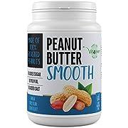 Erdnussbutter Smooth - 1kg natürliche Peanutbutter Ohne Zusätze - 30% Proteingehalt - Erdnussmus ohne Zusätze von Salz, Öl oder Palmfett - Vegan