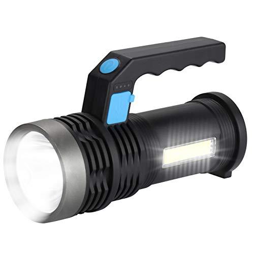 GAWAR LED Handscheinwerfer Wiederaufladbar Taschenlampe Notfallleuchte Handlampe Camping Laterne Suchscheinwerfer Super Heller LED Scheinwerfer mit 4 Leuchtmodi für Camping Outdoor Werkstatt KfZ Auto