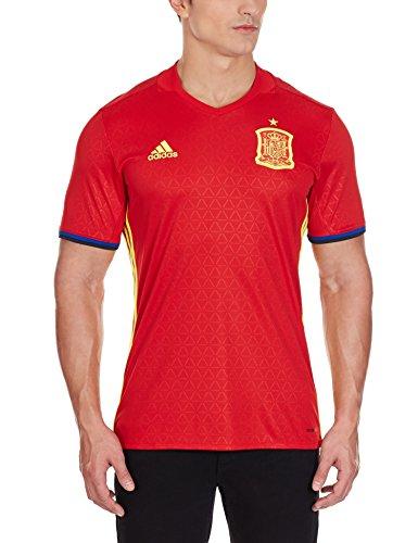 adidas Fef H JSY Camiseta Selección de España 1ª Equipacion 2015-2016, Hombre, Rojo/Amarillo/Azul-(Escarl/AMABRI), 2XL