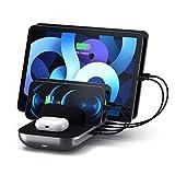 Satechi Estación de Carga multidispositivo Dock 5 con Carga inalámbrica – Cables vendidos por Separado – Compatible con 2020 iPad Air, 2020 iPad Pro, iPhone 12 Pro Max/12 Pro/12 Mini/12, AirPods Pro