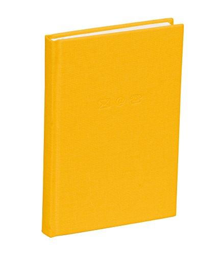 Semikolon (350857) Adressbuch Small sun (gelb) - Mini-Adress-Buch mit Einband aus Buchleinenbezug - 96 Seiten mit Register - 8,6 x 13,5 cm