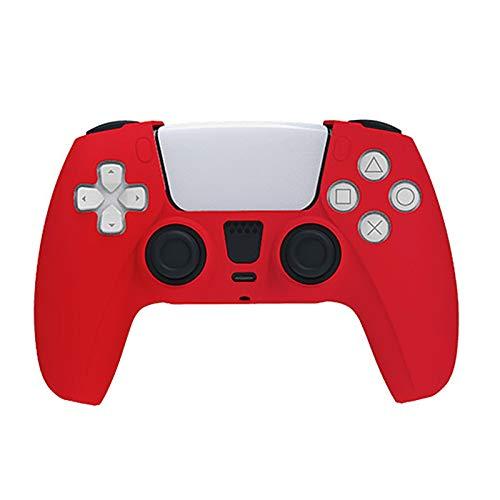 2 Stück Ps5-Controller-Skins, rutschfeste Silikonhaut Ps5-Controller-Griffabdeckungen, hautfreundliche weiche Schutzhülle für Playstation 5 Staubdichter, haltbarer Controller-Griff-Red