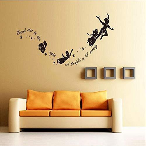 Pegatinas de pared, Peter Pan Pegatina de pared Tinkerbell Star ...