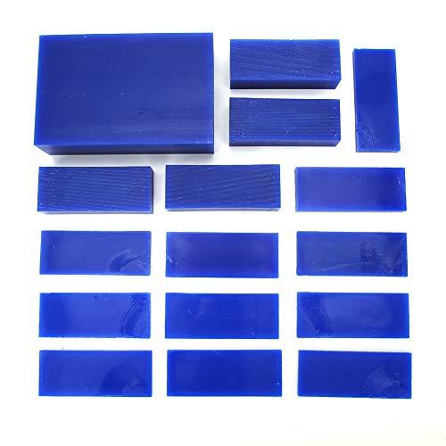 Redxiao Blaues Wachs Ziegelringwachs, Schmuckwachs, Juweliergeschäft DIY Lovers Schmuckhersteller für Schmuckreparaturarbeiter