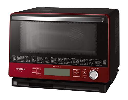 日立ボイラー熱風式過熱水蒸気オーブンレンジヘルシーシェフ大容量30L300℃熱風2段オーブンWスキャン調理MRO-VW1Rメタリックレッド