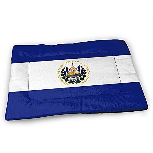 YAGEAD Alfombrilla de Cama para Perro con Bandera de El Salvador Fondo Antideslizante Impermeable, Alfombrilla Lavable para Jaula de Perro para Almohadillas para Mascotas para Dormir
