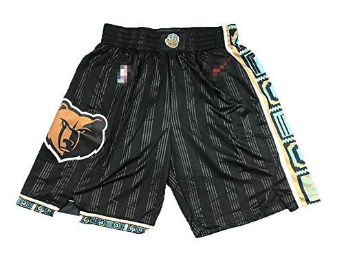 misqimi Pantalones cortos de baloncesto Memphis Grizzlies Morant para hombre, casual, de secado rápido, entrenamiento, correr, gimnasio, entrenamiento, pantalones cortos, sueltos