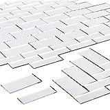 PandaHall 100 pegatinas de pared rectangulares grandes de 2 tamaños para decoración del hogar, manualidades, joyería, 4.9 x 2.5 cm, 1.9 x 0.6 pulgadas