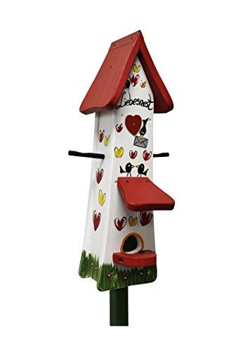 Die Vogelvilla, Futtertürmchen Spezial Liebesnest Brief, Futterhaus, Vogelhaus