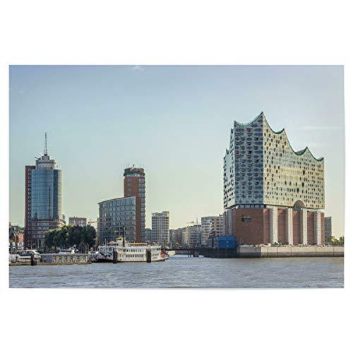 artboxONE Poster 30x20 cm Hamburg Städte Elbphilharmonie Hamburg Hafen - Bild Hamburg City Elbe