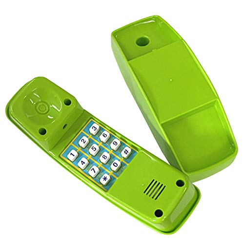 Loggyland Kindertelefon für Spielturm Spielhaus (apfelgrün) Spielzeug