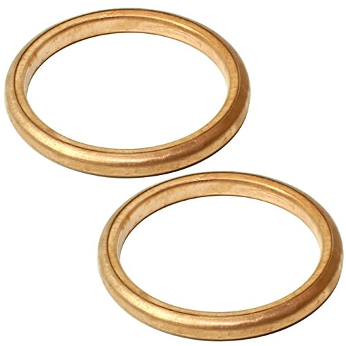 Caltric 2 Exhaust Pipe Gaskets Compatible With Honda Trx400Ex Trx400X...
