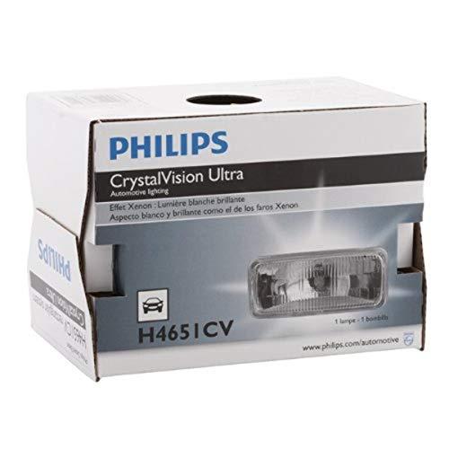 PHILIPS - H4651CVC1 Philips H4651 CrystalVision ultra Upgrade Xenon-Look Halogen Headlight, 1 Pack