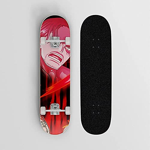 Monopatín de anime para, Mini Cruiser, patineta de cubierta de arce de 7 capas, soporte de anime de carga de 100 kg de carga adecuada para principiantes y profesionales adecuados para deportes al aire