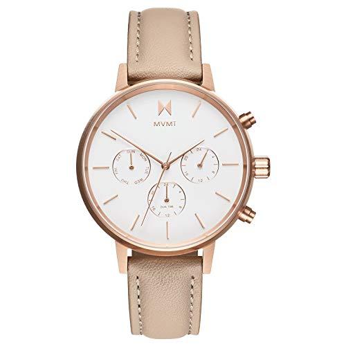 MVMT NOVA Watches | 38MM Women's Analog Watch Chronograph | Luna