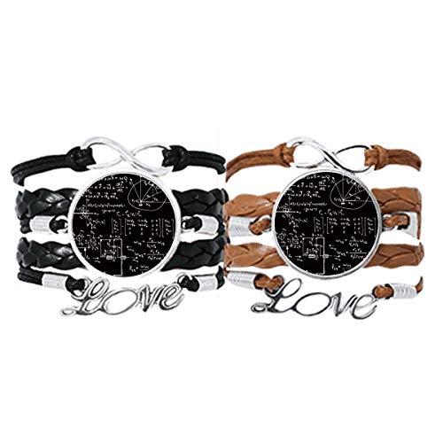 DIYthinker Matrix Mathematische Formeln, Wissenschaft, Taschenrechner-Armband, Handschlaufe, Lederseil, Armband, Doppelset, Geschenk