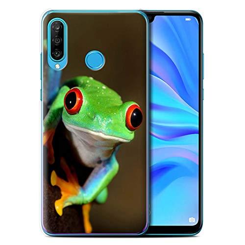 Hülle Für Huawei P30 Lite 2019 Wilde Tiere Frosch Design Transparent Ultra Dünn Klar Hart Schutz Handyhülle Hülle