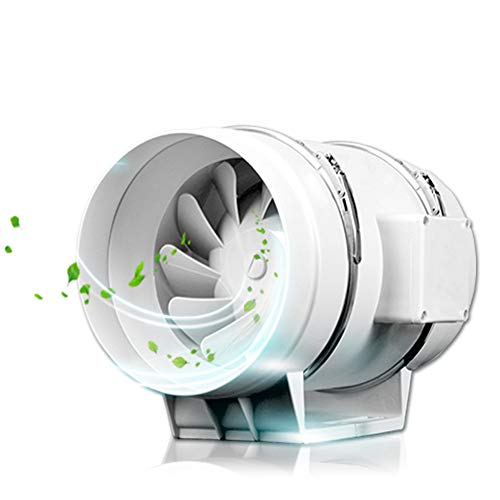 Ventilador Extractor de Baño 200mm 130W Alta Eficiencia Extractor de Aire Sistema 900m³/H 380Pa para Grow Tent Baño Sótano Garaje, Blanco, 220V
