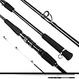 Ecooda 2021 Saltwater/Freshwater Offshore Casting/Spinning Fishing Rod Carbon Fiber Boat Kayak Rod Portable Travel Rod(Length/Max Drag:7' 1-Piece/33LB,7'6''One and Half Piece/40LB,8'6''2-Piece/44LB)